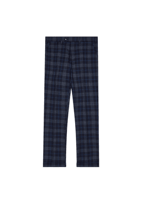 DUCHAMP LONDON Highlight Overcheck Trousers Navy