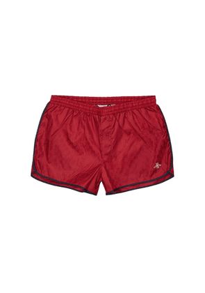 Gucci GG Red Shell Swim Shorts