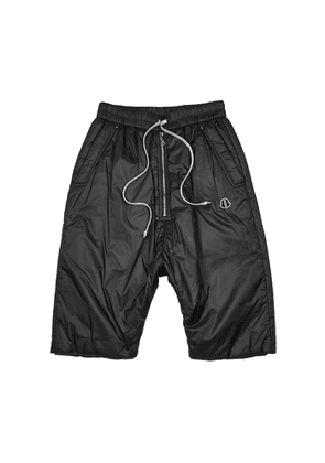 Rick Owens X Moncler Black Padded Shell Shorts