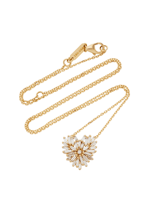 Suzanne Kalan - Women's Angel Small 18K Gold Diamond Necklace - Gold - Moda Operandi - Gifts For Her