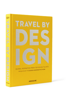 Assouline - Travel by Design Hardcover Book - Men - Yellow