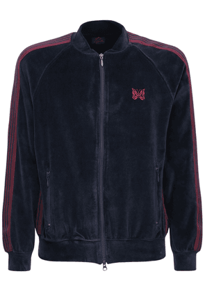 Cotton Blend Chenille Track Jacket