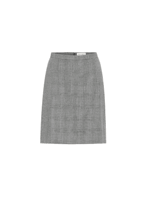 Checked wool and cashmere miniskirt