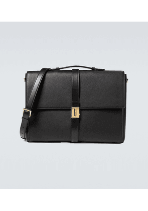 Grained leather T clasp briefcase
