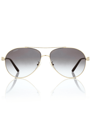 Panthère de Cartier aviator sunglasses