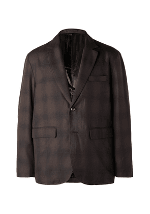 Stüssy - Checked Woven Suit Jacket - Men - Brown