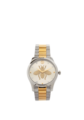 Gucci - G-timeless Stainless-steel Watch - Mens - Silver Gold