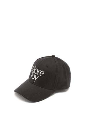 More Joy By Christopher Kane - Logo-embroidered Cotton-canvas Baseball Cap - Mens - Black