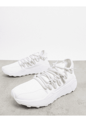 Steve Madden solatice chunky sole trainers in white