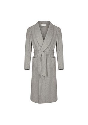 Light Grey Wool Dressing Gown