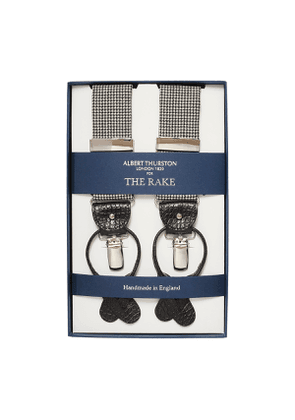Black And White Houndstooth Wool Braces