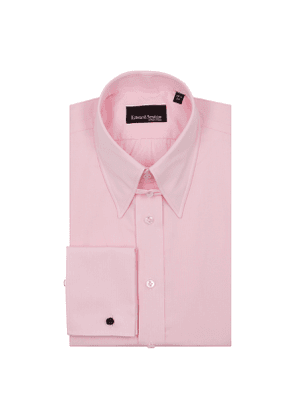 Pink Check Pin Collar Cotton Shirt
