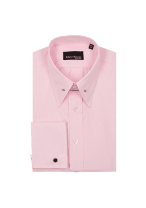 Pink Check Tab Collar Cotton Shirt