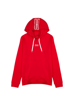 HUGO Dondy Red Hooded Cotton Sweatshirt