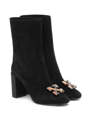 Arrow suede ankle boots
