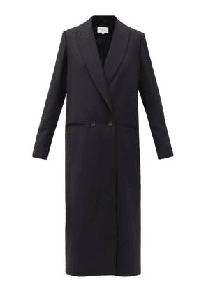 La Collection - Adeline Double-breasted Wool Coat - Womens - Black