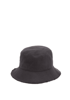 Paul Smith - Frayed-edge Wool Bucket Hat - Mens - Black