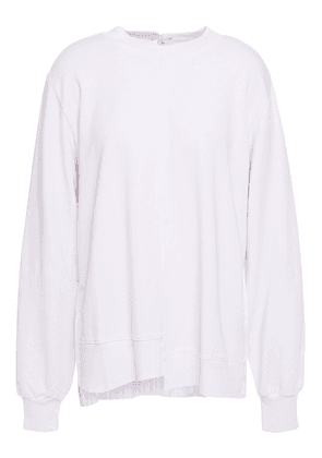 Clu Pleated Satin And Stretch Modal And Cotton-blend French Terry Sweatshirt Woman Lilac Size M