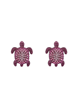 Atelier Swarovski Sea Life Turtle Large Cuff Links - Rose Pink