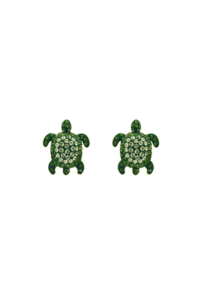 Atelier Swarovski Sea Life Turtle Small Cuff Links - Peridot Green