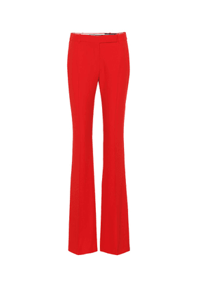 Mid-rise flared pants