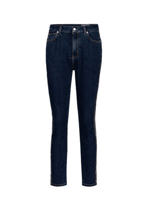 High-rise slim cropped jeans