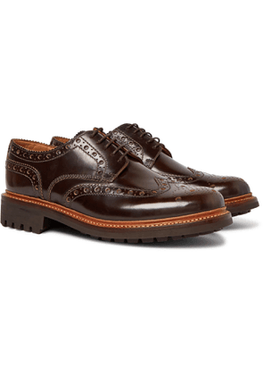 Grenson - Archie Leather Wingtip Brogues - Men - Brown