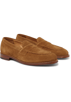 Grenson - Suede Penny Loafers - Men - Brown