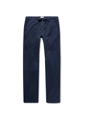 Hartford - Troy Cotton-Twill Drawstring Trousers - Men - Blue