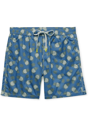 Hartford - Mid-Length Printed Swim Shorts - Men - Blue