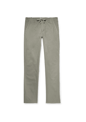 Hartford - Troy Slim-Fit Cotton Drawstring Trousers - Men - Neutrals