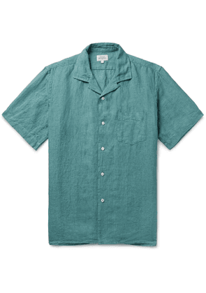 Hartford - Palm Camp-Collar Linen Shirt - Men - Blue