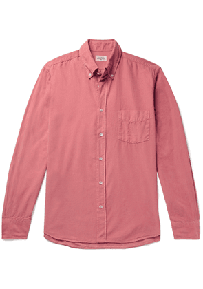 Hartford - Button-Down Collar Cotton-Corduroy Shirt - Men - Pink