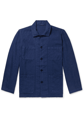 Hartford - Jacinto Garment-Dyed Linen Overshirt - Men - Blue