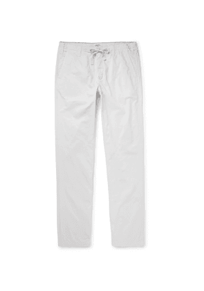 Hartford - Troy Cotton-Twill Drawstring Trousers - Men - Neutrals