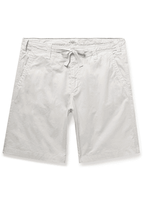 Hartford - Slim-Fit Cotton Drawstring Shorts - Men - Neutrals
