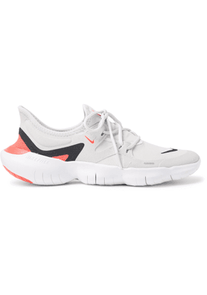 Nike Running - Free RN 5.0 Mesh and Faux Suede Sneakers - Men - White