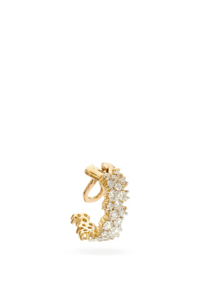 Ana Khouri - Mirian Diamond And 18kt Gold Clip Ear Cuff - Womens - Diamond