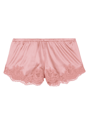 Dolce & Gabbana lace-trimmed Silk-blend Satin Shorts Woman Antique rose Size III
