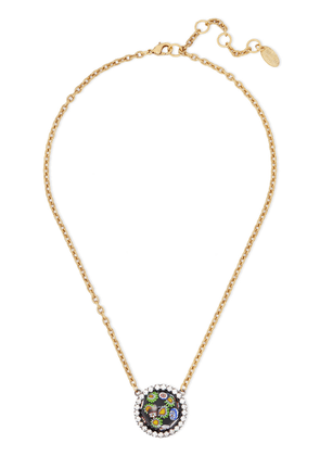 Elizabeth Cole 24-karat Gold-plated, Crystal And Glass Necklace Woman Midnight blue Size --