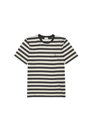 Saint Laurent Striped Fine-knit Wool T-shirt
