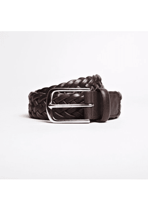 The Braided Leather Belt Brown Leather