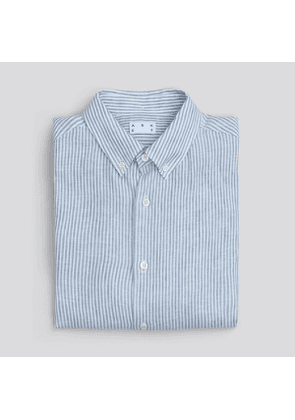 The Linen Shirt Blue Stripe