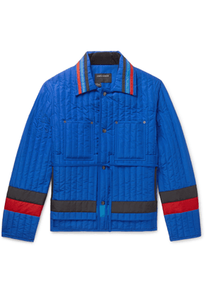 Craig Green - Striped Quilted Shell Jacket - Men - Blue