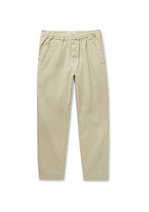 Folk - Assembly Tapered Cotton-Canvas Trousers - Men - Neutrals