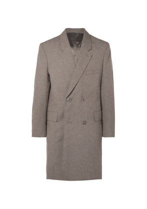 Lemaire - Mélange Virgin Wool-Blend Double-Breasted Overcoat - Men - Gray
