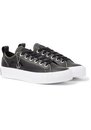 McQ Alexander McQueen - Plimsoll Leather Sneakers - Men - Black