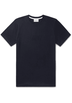 Norse Projects - Niels Logo-Embroidered Cotton-Jersey T-Shirt - Men - Blue