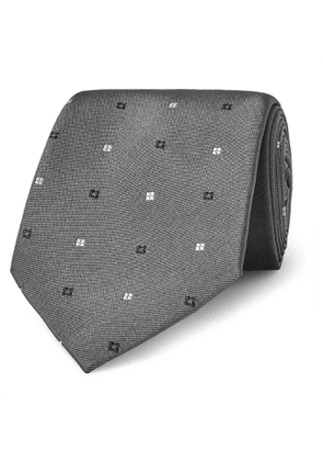 Turnbull & Asser - 8cm Silk-Jacquard Tie - Men - Gray