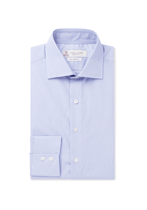 Turnbull & Asser - Blue Cutaway-Collar Striped Cotton Shirt - Men - Blue